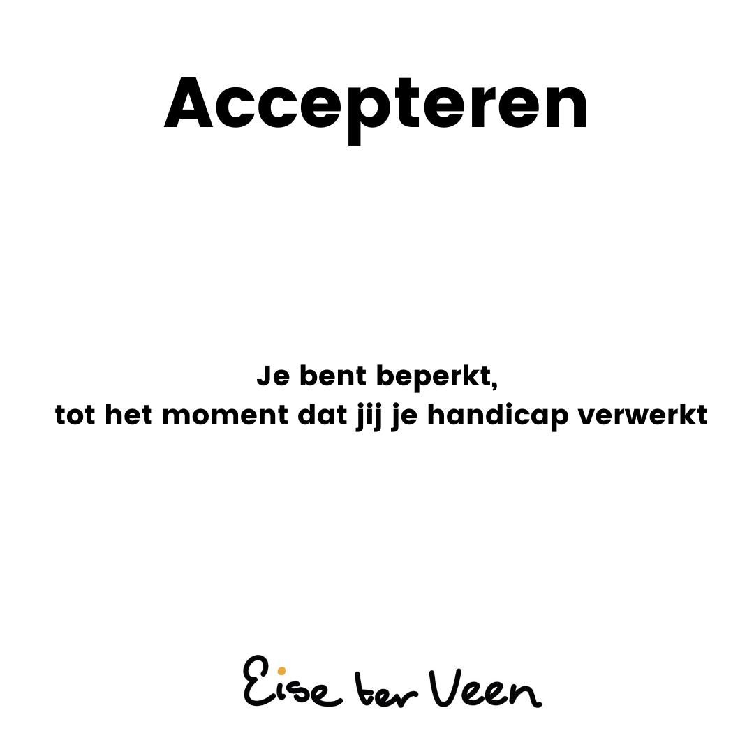 Eise ter Veen - Accepteren
