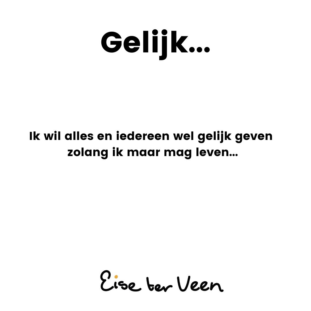 Eise ter Veen - Gelijk...
